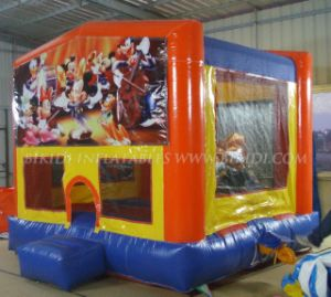Bounce House Inflatable Bouncer Moonwalk Jump Bouncy Castle with Changeable Banner pictures & photos