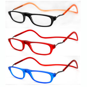 Women Fashion Plastic Reading Glasses with Magnetic Frame pictures & photos