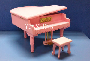 Lovely Pink Wooden Piano Musical Box Elegant Music Box for Birthday Gift (LP-31F) a pictures & photos