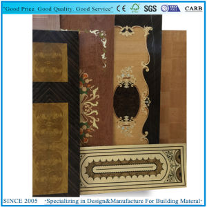 Jointed Flower Veneered Door Skin Plywood in 3X7′ pictures & photos