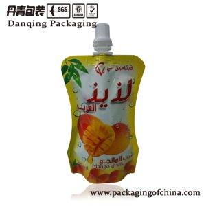 Cuostomized Liquid Pouch with Spout for Mango Drink pictures & photos