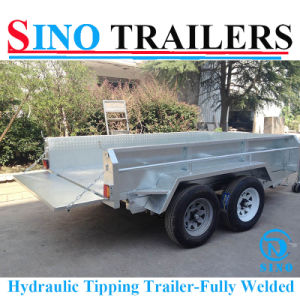 Australian Style Hydraulic Fully Welded Tipping Trailer pictures & photos