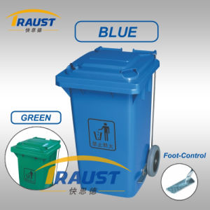 Hot Sale Outdoor Plastic Litter Bin Tpg-7321A with Foot Padel pictures & photos