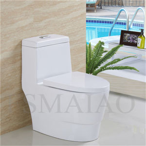 New Arrival Sanitary Wares Bathroom One Piece Siphonic Toilet Bowl (8112) pictures & photos