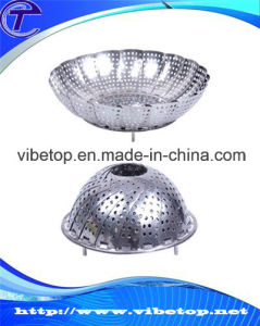 Folding Retractable Stainless Steel Steaming Tray Fruit Plate pictures & photos