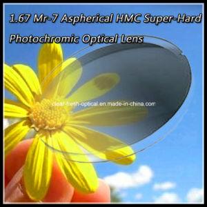 1.67 Mr-7 Aspherical Hmc Super-Hard Photochromic Optical Lens pictures & photos