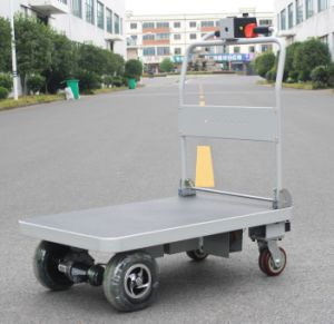 Hg-1010 Material Handling Motorized Platform Hand Cart pictures & photos