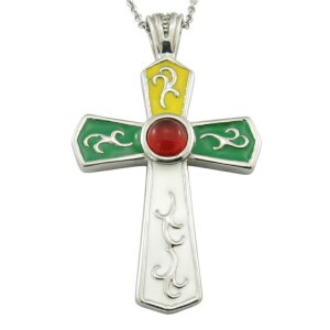 Fashion Large Enamel Gemstone Cross Necklace pictures & photos