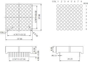 1.5 Inch 8X8 Dual Color LED DOT Matrix pictures & photos