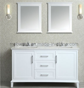 "60"" Double-Sink Bathroom Vanity Set / Modern Solid Wood Bathroom Vanities pictures & photos"