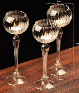 Wedding Decorative Glass Candle Holder pictures & photos