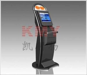 Free Standing Touchscreen Check Kiosk with Keyboard pictures & photos