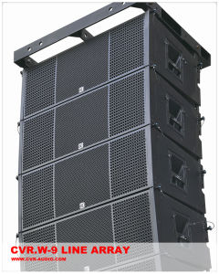 Compact Line Array Power Generator Loudspeaker Professional W-9 pictures & photos