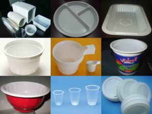 Big Output Plastic Water Cup Plate Bowl Thermoforming Machine pictures & photos