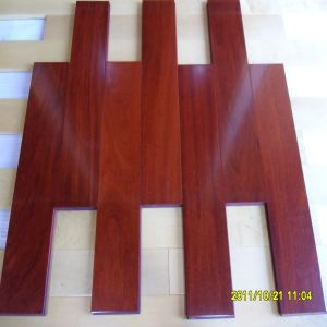 Mahogany Color Brazil Teak Solid Wooden Flooring pictures & photos