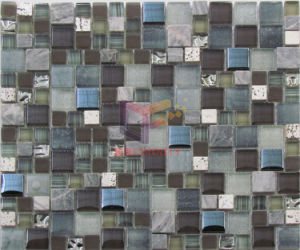 Modern Design Glass with Stone Mosaic (CS260) pictures & photos