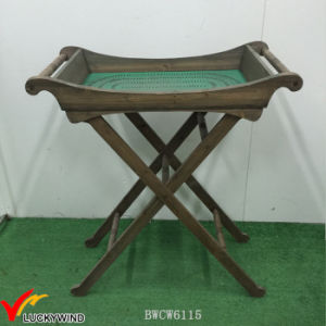 Unique Vintage Green Wooden Tray Table Coffee Table pictures & photos