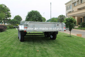 10X5 Tandem Box Trailer in Galvanized pictures & photos