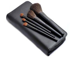 5PCS Natural Hair Portable Makeup Brush Set with Zipper Pouch pictures & photos