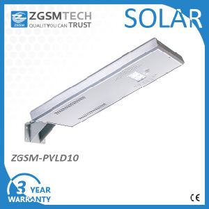 15W High Efficiency Solar LED Street Lighting with Integrated Solar Panel pictures & photos