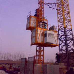 Sc200/200 Double Cage Construction Building Hoist/Construction Machinery pictures & photos