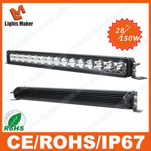 4D Lens LED Light Bar Wholesale Price Super Bright 28 Inch 150W Waterproof LED Lamp Bar Light Headlights