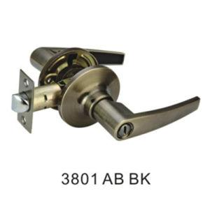 Popular Design Zinc Tubular Lever Handle Lock (3801 AB BK) pictures & photos