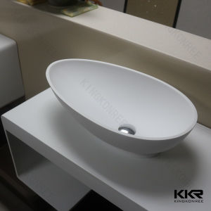 Artificial Stone Oval Shap Washing Basin for Hotel