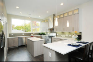 White Melamine Finish Wood Kitchen Cabinet pictures & photos