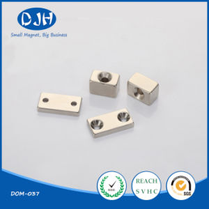 Wholesale Moto Sintered NdFeB Magnets with Holes pictures & photos