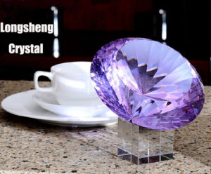 More Faceted Crystal Glass Diamond with Base for Table Home Decoration pictures & photos