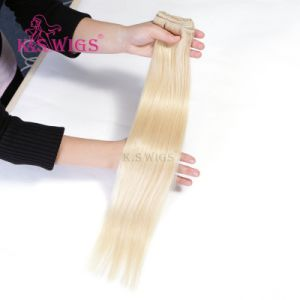 Double Drawn Indian Remy Hair Human Hair Extension pictures & photos