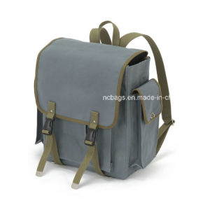 Fashion and Good Quality Canvas School Backpack for Student (SBB-046#) pictures & photos