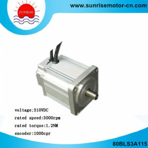 80bls3a115 310VDC 375W 1.2nm 1000CPR Brushless (BLDC) DC Servo Motor pictures & photos