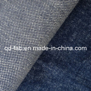 New Fashion High Stretch Cotton Linen Spandex Denim Fabric (QF13-0734) pictures & photos