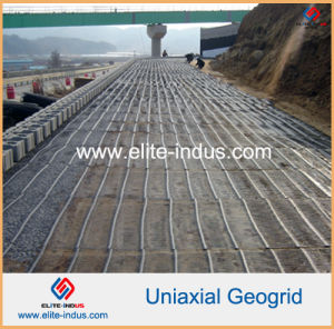 HDPE Uniaxial Geogrid for Retaining Walls Reinforcement pictures & photos