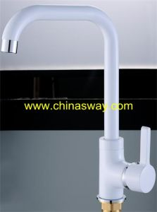 White Sink Faucet, Movable Spout, Brass (SW-09582-Q1) pictures & photos