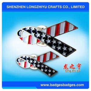 Imprinting Color Silver Flag Badges pictures & photos