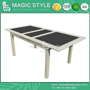 Outdoor Dining Table with Auto-Extension System (195/255) Functional Rattan Dining Table (Magic Style) pictures & photos