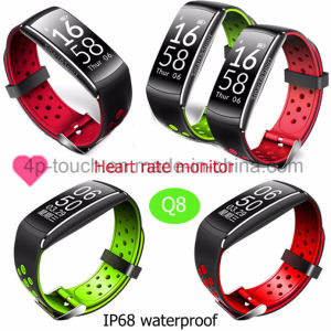 IP68 Waterproof Fitness Tracking Smart Bluetooth Bracelet Q8 pictures & photos