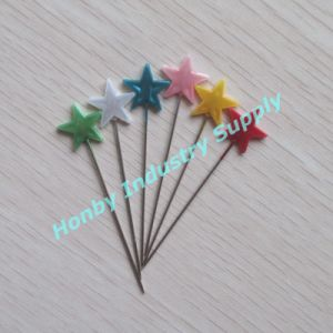 Colorful 55mm Star Shaped Head Christmas Decorative Pins