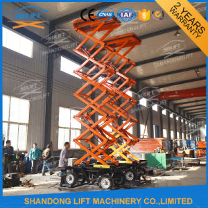 Outdoor Mobile Hydraulic Personal Lift Platform with Wheel pictures & photos