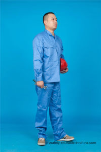 High Quality Safety 65% Polyester 35%Cotton Long Sleeve Work Clothes (BLY2004) pictures & photos
