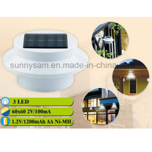 3 LED Lighting Solar Power Fence Outdoor Gutter Garden Yard Lamp pictures & photos