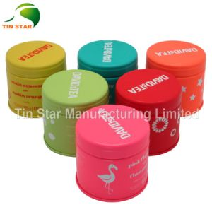 High Quality Small Round Tea Tin Box with Inner Airtight Lid for Food Package