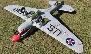 P40 Biggest RC Airplane Electric