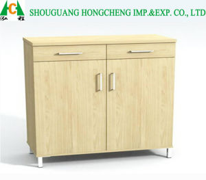 Natural Wooden Shoe Cabinet pictures & photos