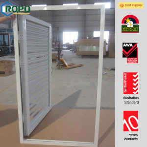White Color Plastic Swing Door with Louvre Design pictures & photos