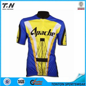 Men′s Sublimation Printing Coolmax Short Sleeve Cycling Jersey / Cycling Wear pictures & photos