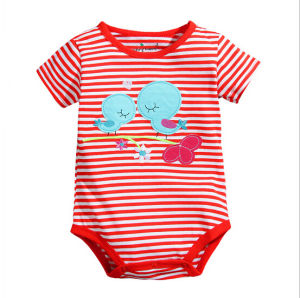 Newest Cheap Customize Unisex Lovely Soft Cotton Comfortable Baby Romper pictures & photos